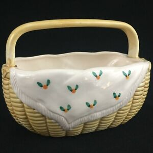 VTG-Ceramic-Country-Basket-by-Sigma-The-Tastesetter-Andrea-West-Made-in-Japan