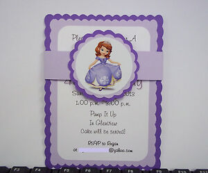 Image Is Loading Sofia The First Birthday Invitations Disney Princess