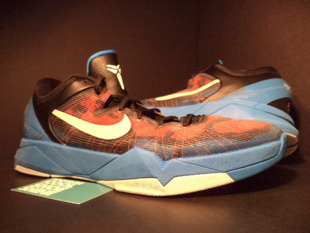 Nike Zoom KOBE VII 7 SYSTEM POISON DART FROG BLUE ORANGE BLACK RED 488371-403 13 The most popular shoes for men and women