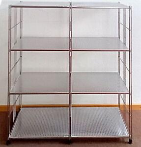 balton regal metall mit 8 lochblechb den chrom neu direkt vom hersteller 4250055400010 ebay. Black Bedroom Furniture Sets. Home Design Ideas
