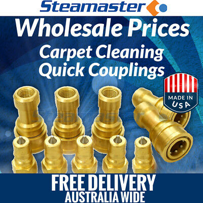 """Stainless Steel Quick Connect Disconnects 1//4/"""" Carpet Cleaning set"""