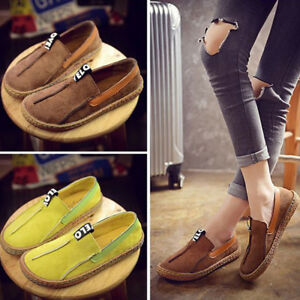 Women-039-s-Loafers-Shoes-Round-Toe-Casual-Pattern-Flats-Wide-Shallow-Slip-on-Shoes