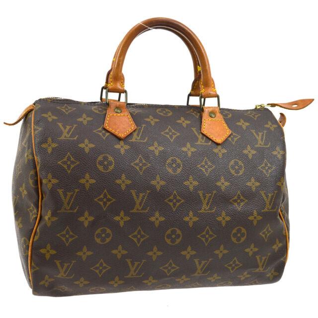 LOUIS VUITTON SPEEDY 30 HAND BAG PURSE MONOGRAM CANVAS M41526 VI0931 A48265