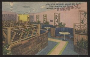 Details About Postcard Salt Lake City Utah Ut Kuong Jou Cafe Chinese Restaurant View 1930 S