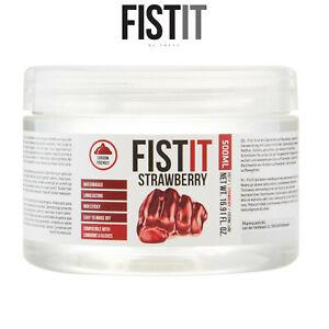 Fist It Lubricant 500ml Strawberry Water Based Lubrificante Base Acqua Fragola