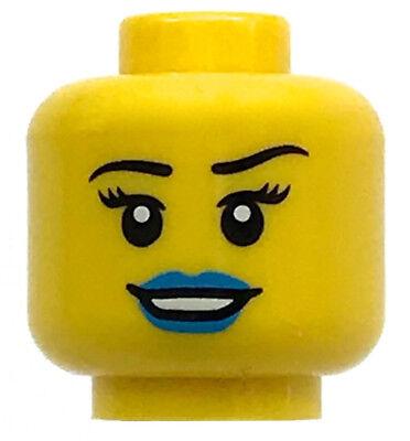 Lego New Minifigure Head Female Dark Brown Eyebrows Girl Piece