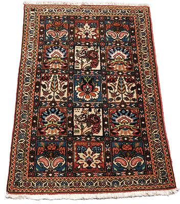 Orient / Perser Teppich Abadeh 90 x 58 Moud Bachtiar Gartenmuster Fußmatte