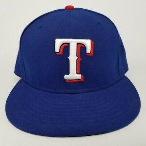 Texas-Rangers-New-Era-59FIFTY-Baseball-Hat-Size-7-3-8-Cap-Blue-White-Red