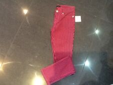 NWT Juicy Couture New & Gen. Girls Age 10 Pink Striped Trousers With Juicy Logo