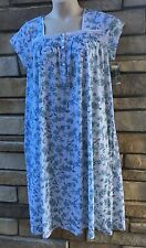 Earth Angels M Night Gown WOMENS Sleepwear Short Sleeve White Floral NWT