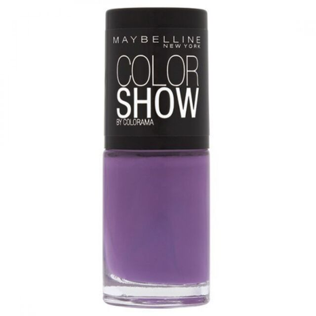 Maybelline Color Show Nail Polish Purple Lavender 554 Top Coat Varnish 7ml