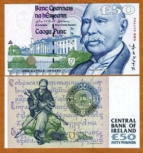 Ireland-Republic-50-pounds-1999-P-78-78a-Gem-UNC