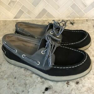 Sperry-Top-Sider-Boys-Intrepid-Boat-Shoes-YB29910A-blue-Leather-Youth-Size-4M