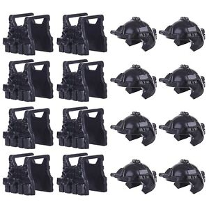 LEGO-Helmets-Vests-16-Pack-Army-SWAT-Soldier-Modern-Military-Accessory-Lot