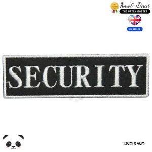 Security-Badge-Embroidered-Iron-On-Sew-On-Patch-Badge-For-Clothes-etc