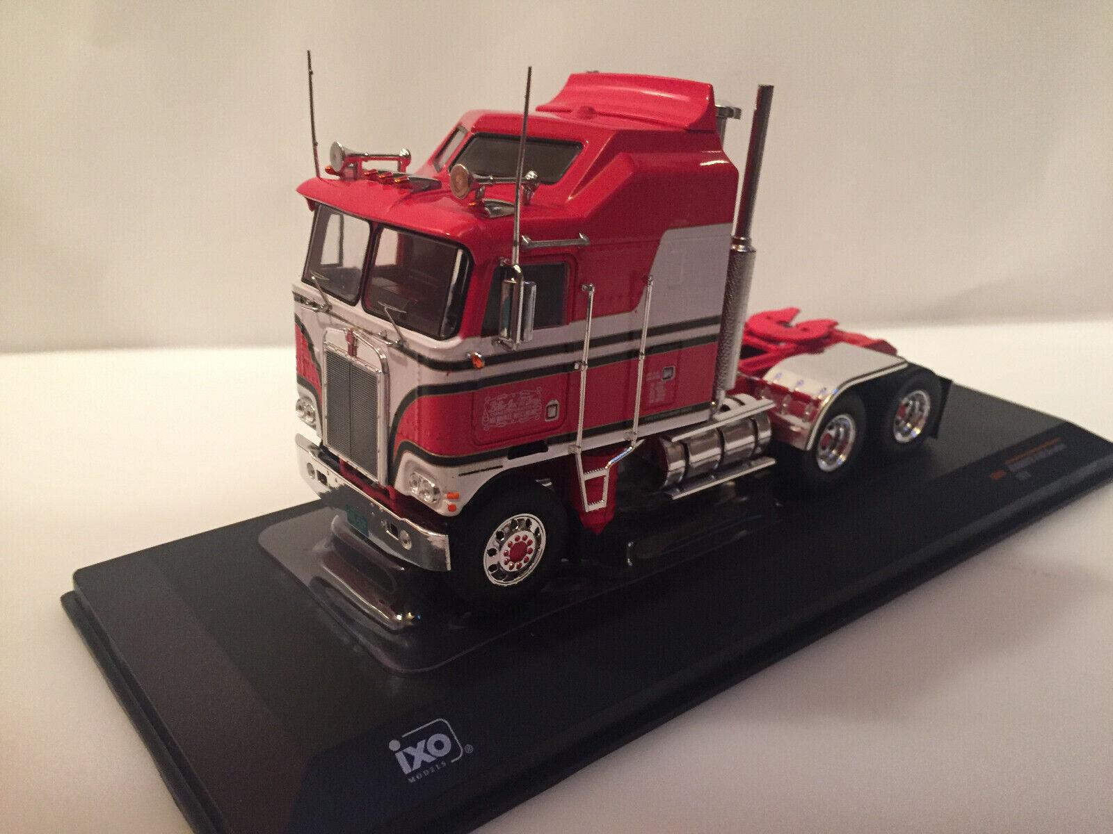 1950 1//43 ixo TRO36 miniature camion Kenworth Bullnose noir//rouge