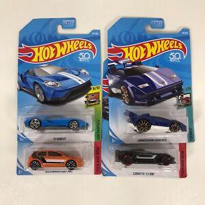 Lote-de-4-Hot-Wheels-Coches-Corvette-039-17-Ford-Gt-Golf-MK7-Lamborghini-Nuevo