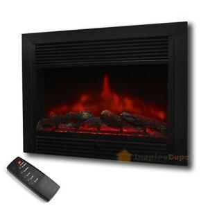 28 5 embedded electric fireplace insert heater remote realistic rh ebay com Lowe's Dimplex Electric Fireplace Insert Top Rated Electric Fireplace Inserts