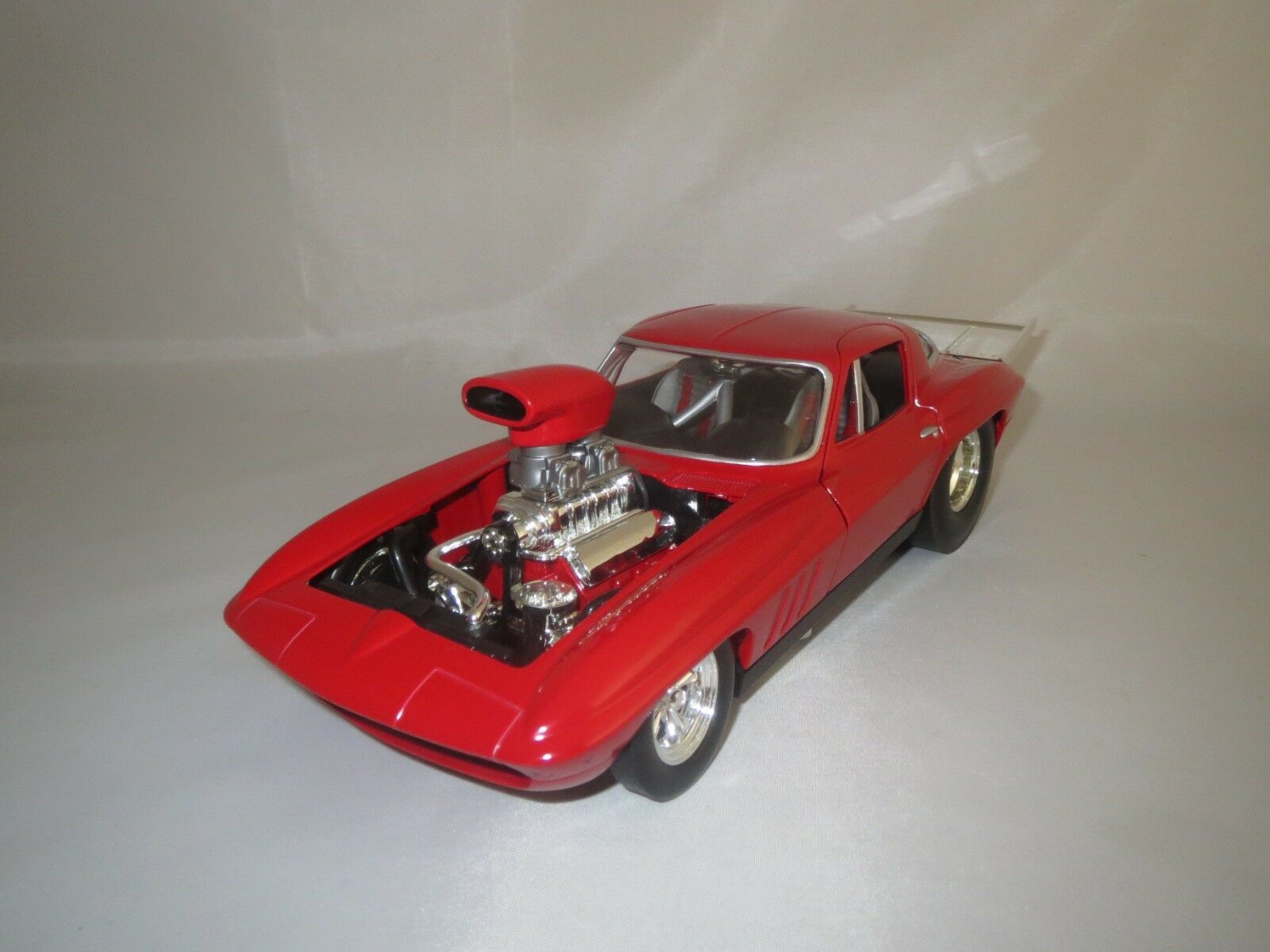 Hot Wheels Mattel Pro Street Corvette (rojo) 1 18 sin embalaje