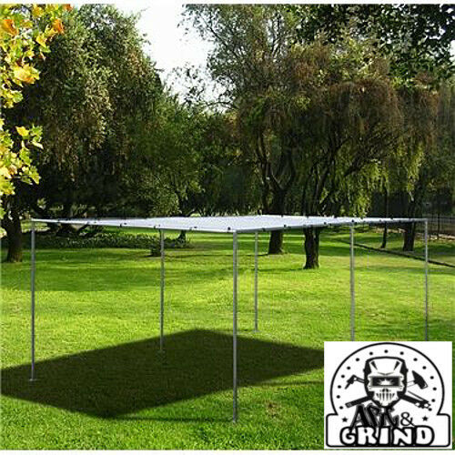 """10 X 16 Canopy Swap Meet Complete Kit with frame 3//4/"""" pipe-Silver Top"""