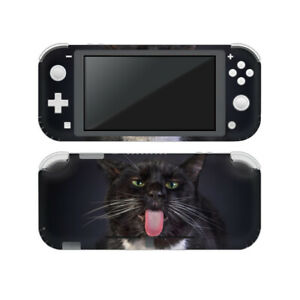Black Cat Licking Cool Nintendo Switch Lite Vinyl Decal Sticker Skin Ebay