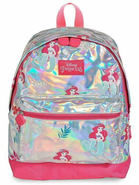 Disney Princess Girls Holographic Backpack Little Mermaid Ariel School Bag