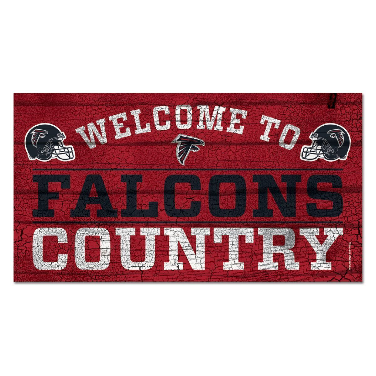 NFL Football Atlanta Falcons Welcome to Country  Wood Wood Wood Sign Holzschild Holz 73403d