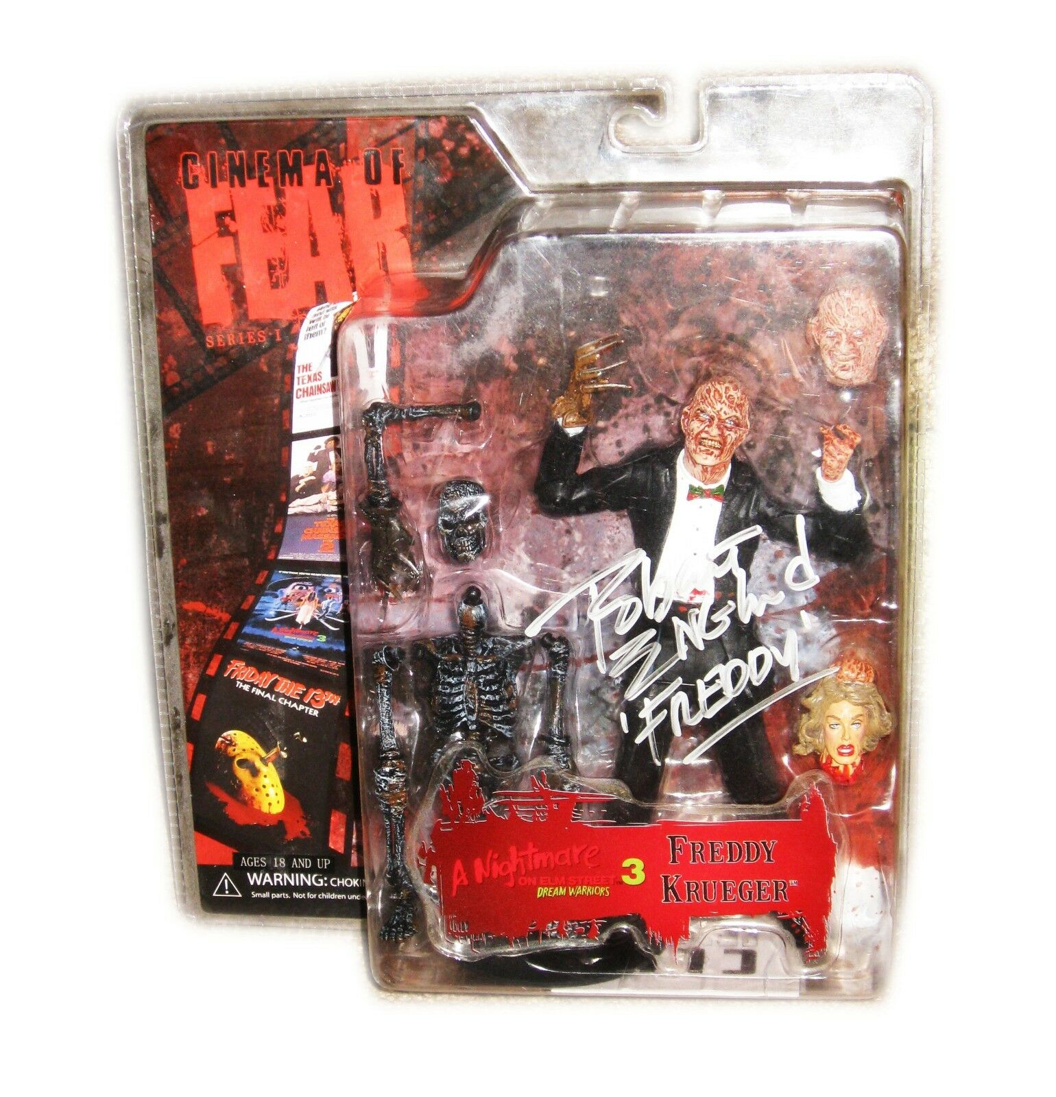 FrotDY KRUEGER CINEMA OF FEAR HAND SIGNED NIGHTMARE ON ELM STREET ACTION FIGURE