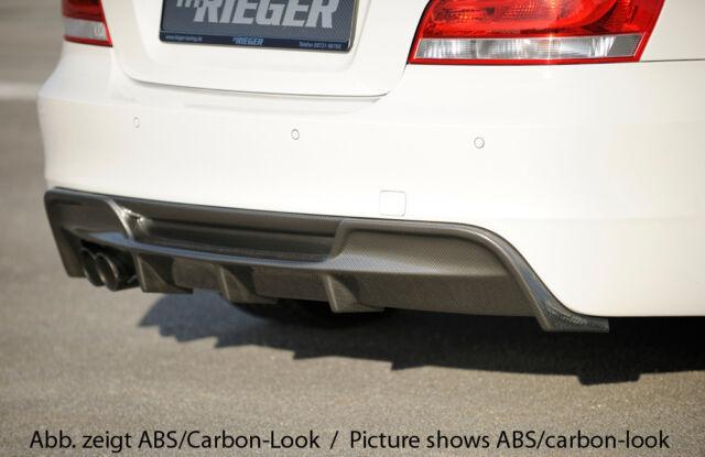 BMW 1 series E82 Coupe RIEGER Rear Bumper Insert / Diffuser - Gloss Black finish
