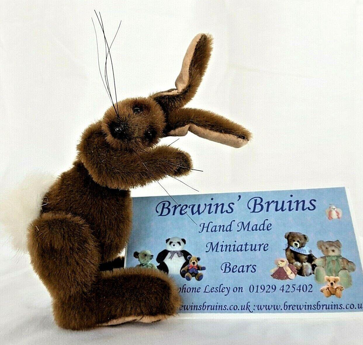 Da collezione miniatura Lepre a mano brewins'S Bruins ORSI Coniglietto Pasquale Regalo