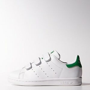 NEW KIDS ADIDAS ORIGINALS STAN SMITH (PS) YOUTH [M20607]  WHITE//WHITE-G<wbr/>REEN