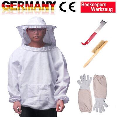 Beekeepers Schutzanzug Imkerjacke Hut Schleier Imker Jacke Imkerei Handschuhe B