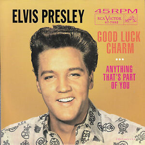 ELVIS-PRESLEY-Good-Luck-Charm-PICTURE-SLEEVE-RED-VINYL-7-034-45-NEW-jukebox-strip