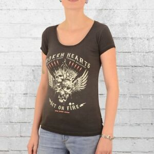 2a9f6bb694e89 Das Bild wird geladen Yakuza-Premium-Damen-T-Shirt-Broken-Hearts-anthrazit-
