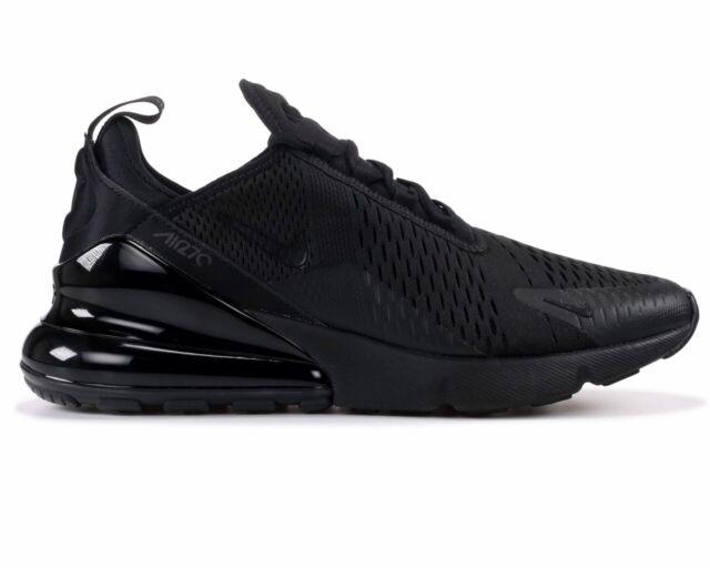 77961f55b9 Nike Air Max 270 AH8050 005 Mens Trainers Triple Black Gym Running Shoes