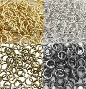 100-x-Quality-Jewellery-Making-Jump-Rings-Silver-Gold-Black-Bronze