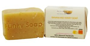 1-piece-Banana-amp-Honey-dry-skin-Soap-100-Natural-Handmade-120g