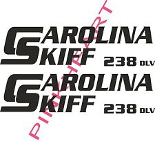 carolina 238 DLV skiff Boat Decals Graphics Sticker Decal Stickers  USA