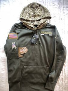 new products 609ae 0b802 Details about NEW MENS NIKE OAKLAND RAIDERS SALUTE TO SERVICE HOODIE SIZE  MED 853428-325