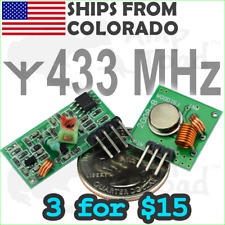 433mhz Rf Transmitter Amp Receiver Radio Link Remote Module Kit Arduino Pi Ttl