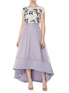 Low Lilac 8 Bnwt❤️coast❤️size Rhian £ Skirt Prom High Wedding Nuovo Organza 139 T1qxX