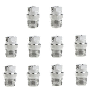 "Pack of 10 Stainless Steel High Pressure Spray Nozzle 1//4/"" for Pressure Washer"