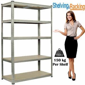 5-Tier-Heavy-Duty-Boltless-Metal-Shelving-Shelves-Storage-Unit-Racking-Garage-UK