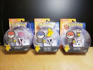 NOUVEAU-POKEMON-Throw-N-Pop-Pokeball-Lot-de-3-Pikachu-CUBONE-amp-Ditto-New-in-Box-TOMY