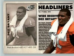 2010 Press Pass PE  Headliners #HL-21 Dez Bryant - Dallas Cowboys