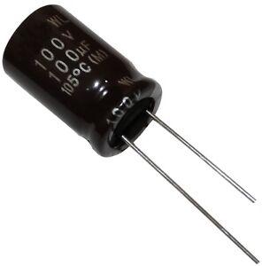 10x Condensateur électrolytique Chimique Low Esr 100µf 100v Tht Ø12x20mm Radial Yxjgioau-07174858-353628770