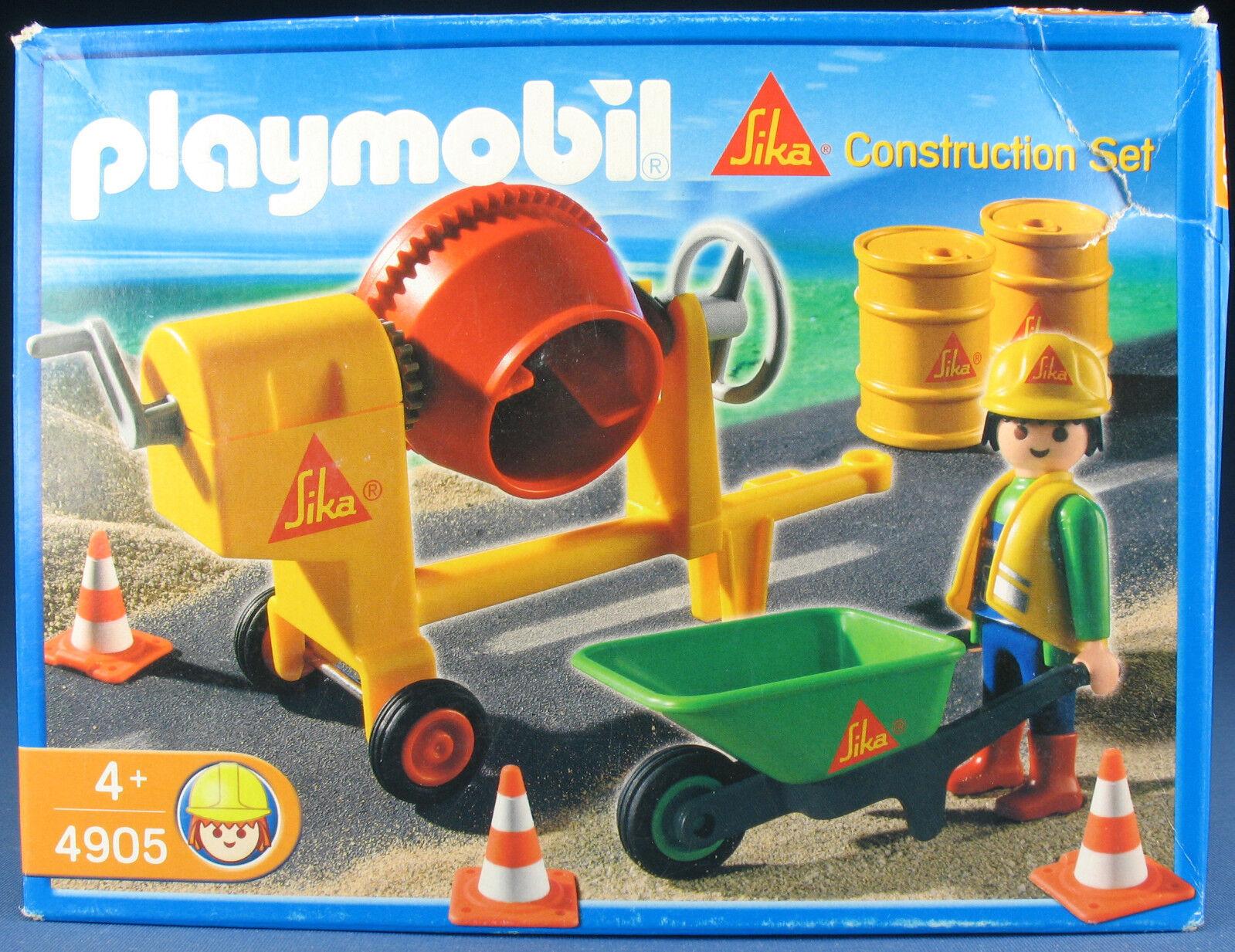 PLAYMOBIL 4905 - Sika - Baustelle Construction Promo Set - 2008 - NEU - New MISB