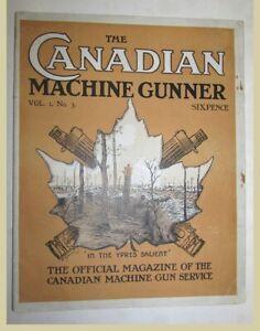 Canadian-Machine-Gunner-Vol-1-No-3-June-1917-Official-Magazine-WW1-Canada