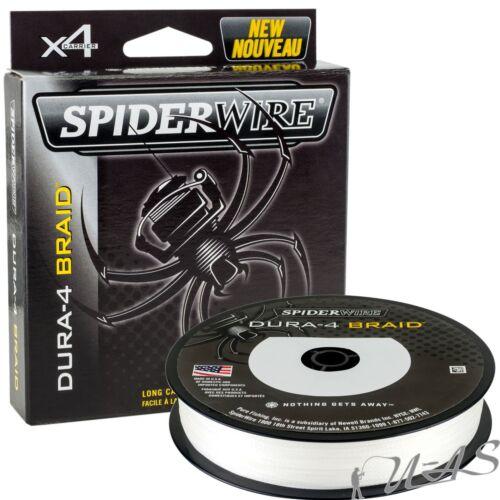 Spiderwire Dura 4 300M 0.30mm 29,00Kg Weiss 4 Fach Geflochtene Angelschnur Kva