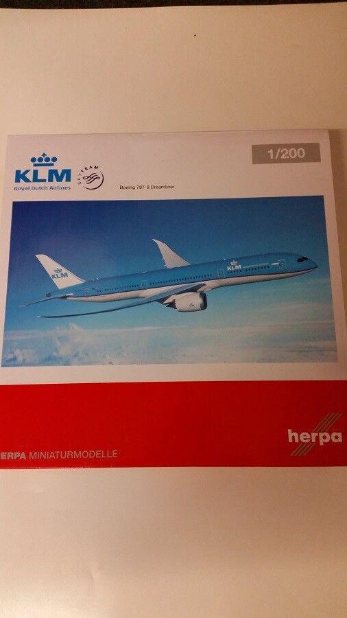 Herpa 557450 - 1 200 Boeing 787-9 Dreamliner-KLM-Neuf